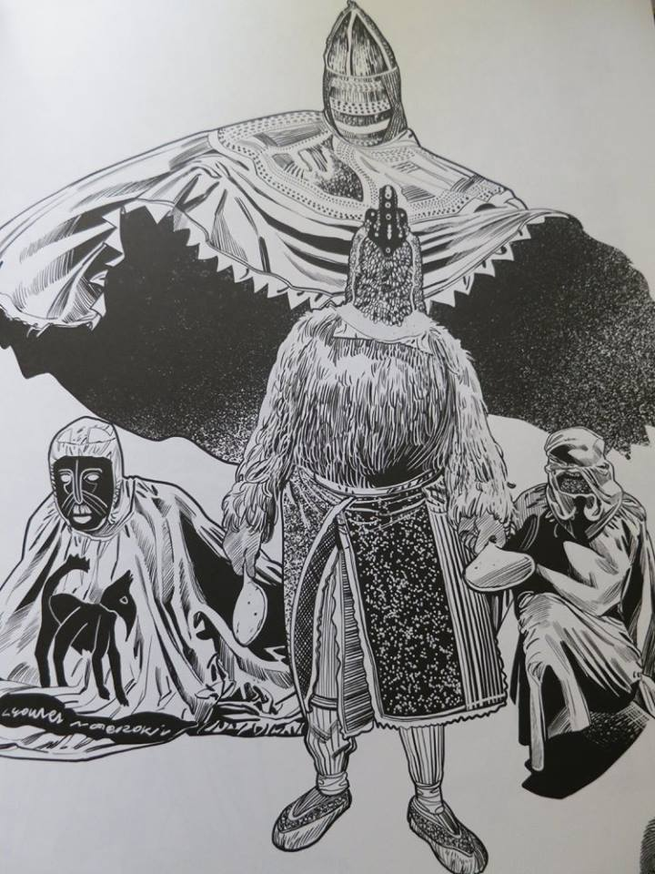 """Un'illustrazione di Sergio Gerasi tratta dal libro di Oscar Quagliarini """"L'universo di Oscar Q"""