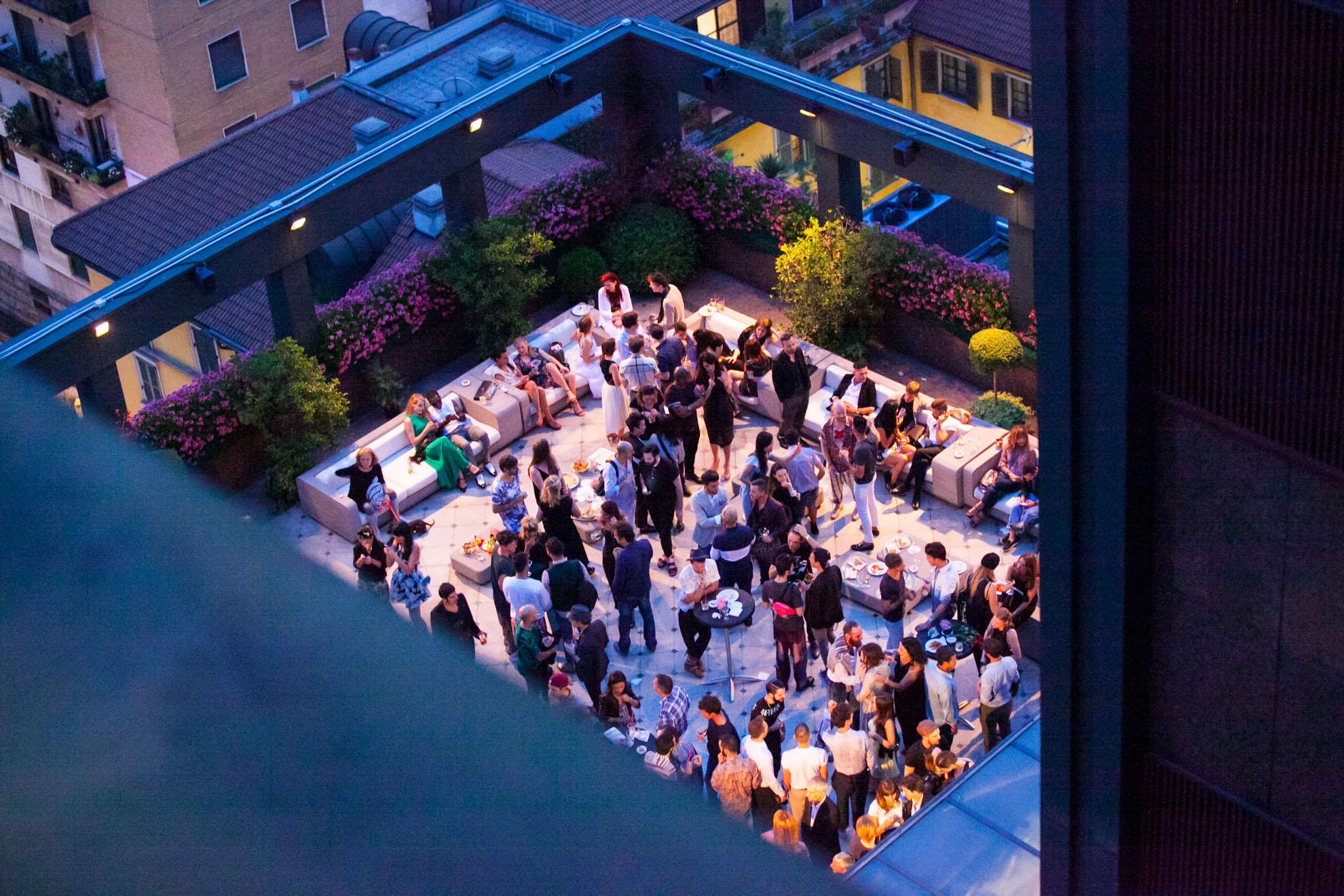 Terrazza del Westin Palace durante il party Vivienne Westwood