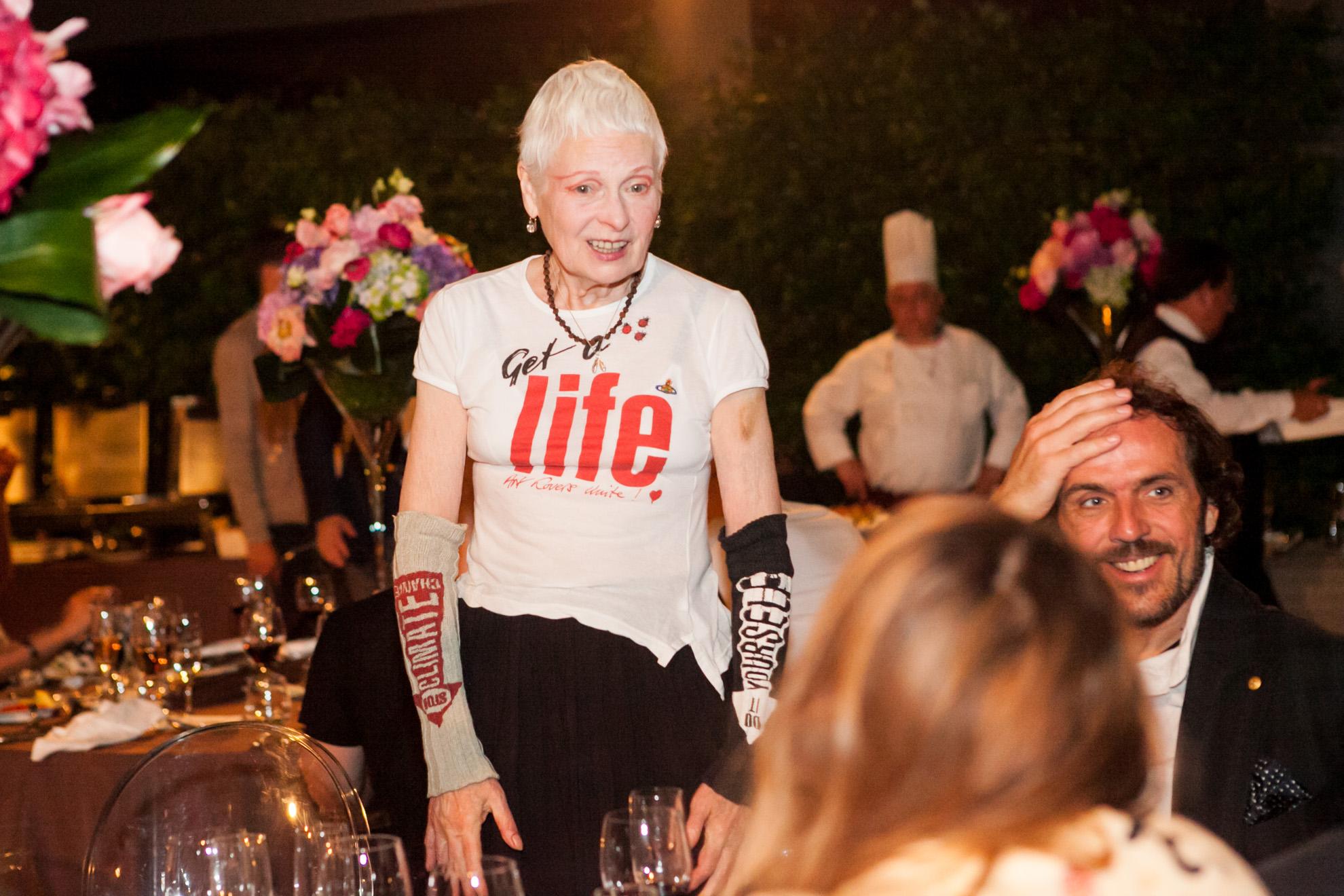 Vivienne Westwood al party del 2014 al Westin Palace