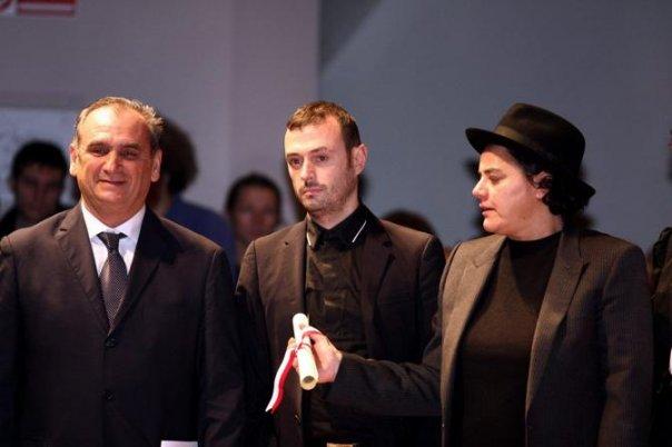 Lucio Nisi, Sergio Tavelli, Pinky alla consegna dell'Ambrogino d'Oro nel 2009. Nicola stava arrivando a piedi ed era in ritardo