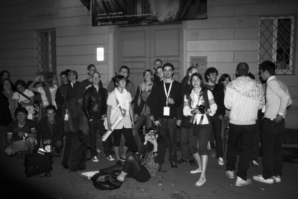 Foto scattata fuori da Palazzo Santa Margherita appena dopo la conclusione della prima edizione nel giugno 2008