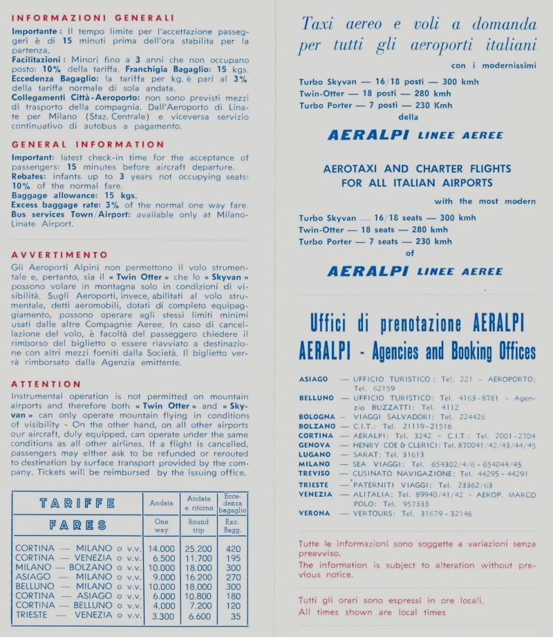 L'opuscolo di AerAlpi linee aeree - © http://www.fiorenzadebernardi.it