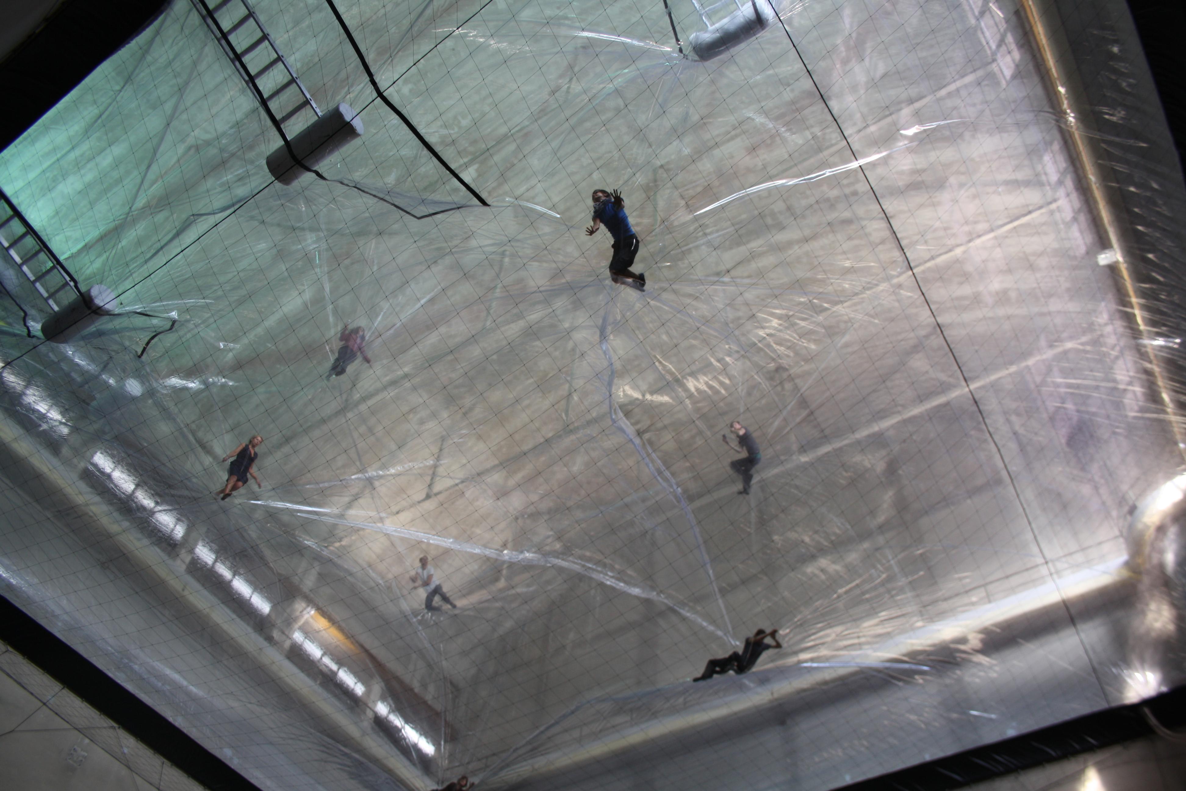 "Tomás Saraceno, ""On Space Time Foam"", Hangar Bicocca 2012"