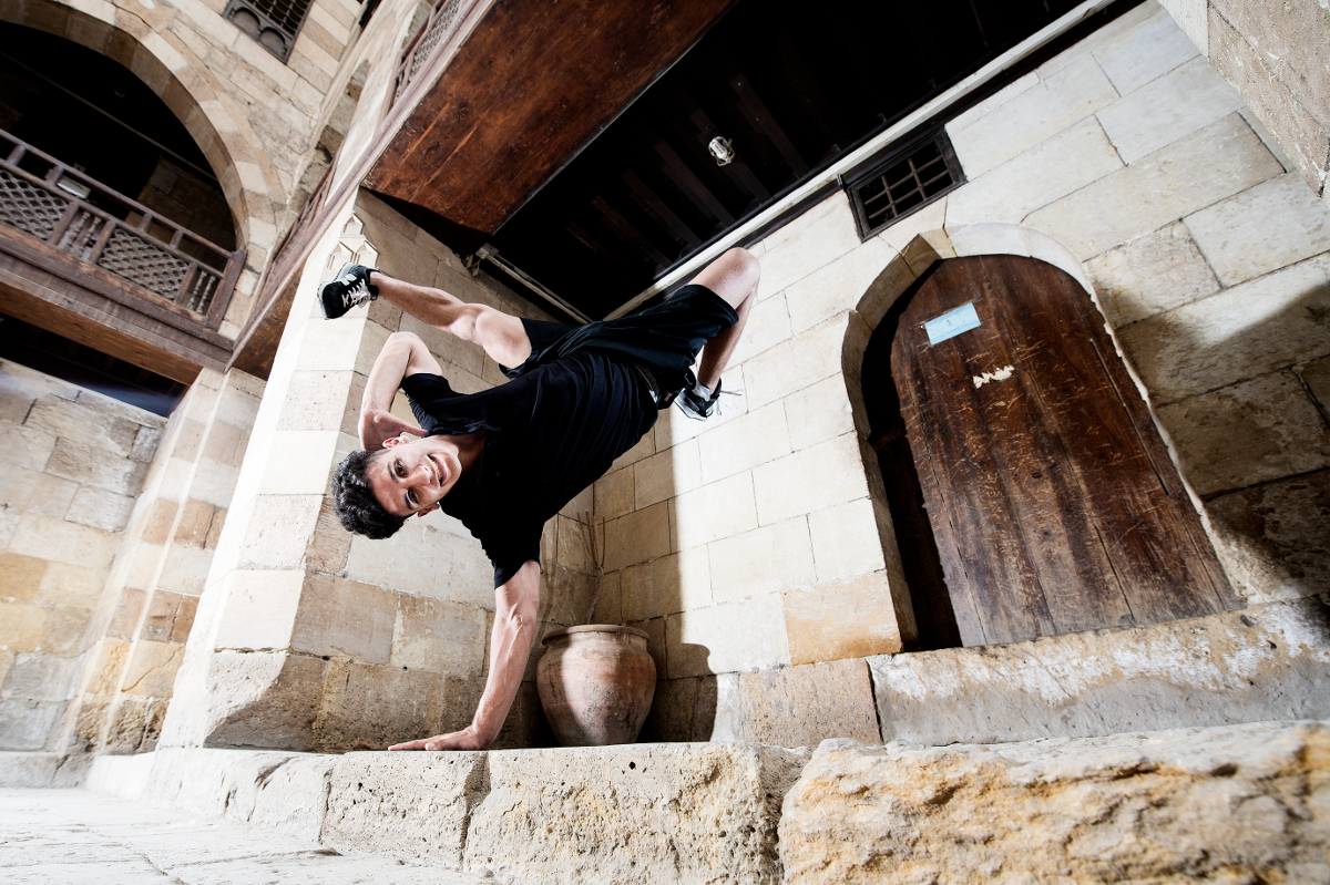 BBoy Lil Zoo performs at the pre photo shoot during Red Bull BC One Middle East and Africa Final at wekalet El Ghouri in Cairo, Egypt on September 10th, 2015