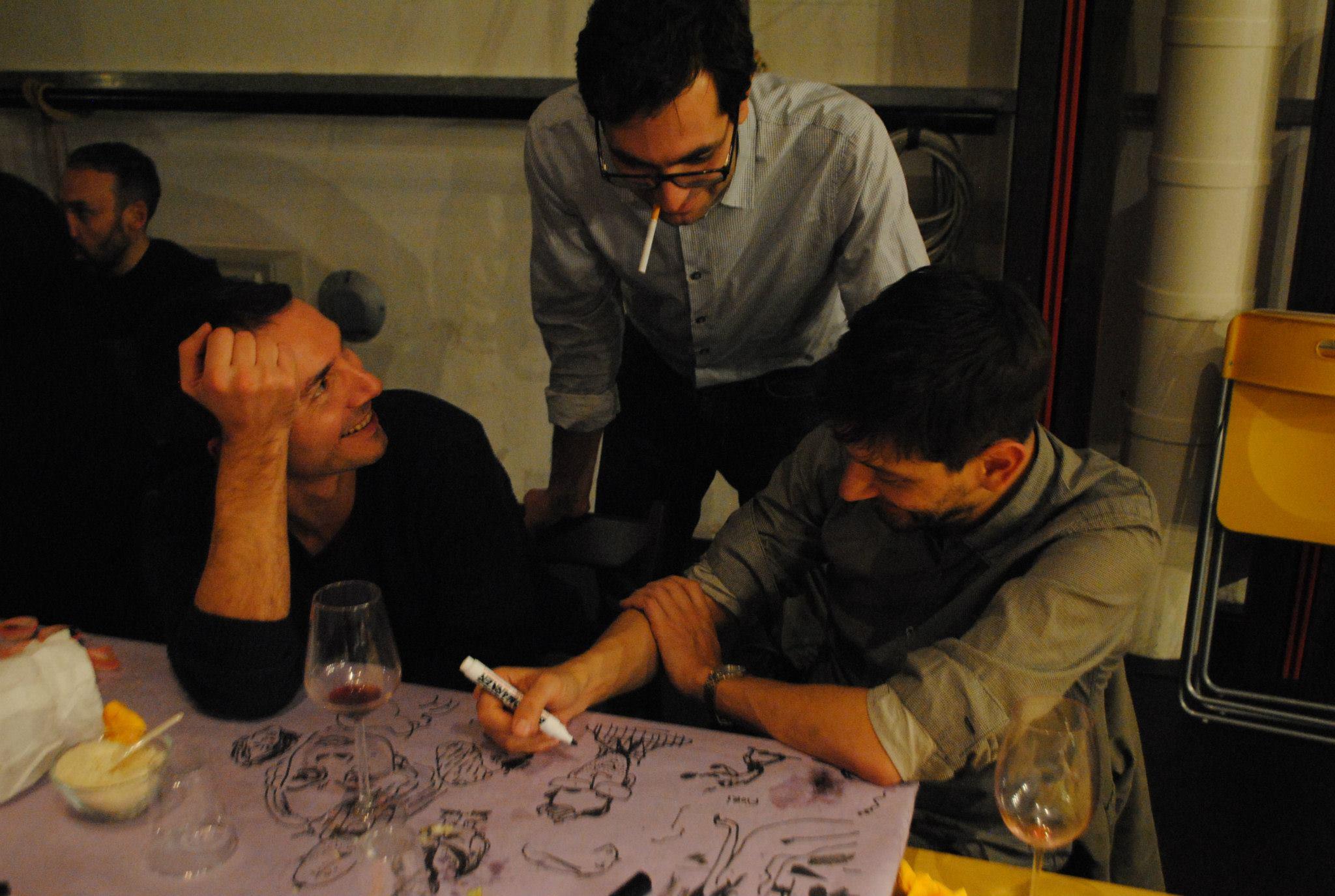 Alessandro Tota con Marino Neri e Manuele Fior