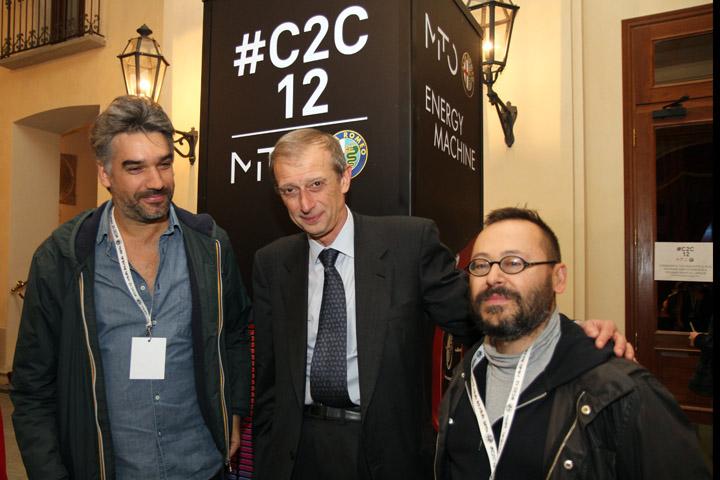 Piero Fassino con Sergio Ricciardone e Roberto Spallacci