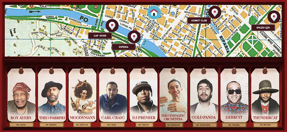 Mappa venue di Jazz:Re:Found