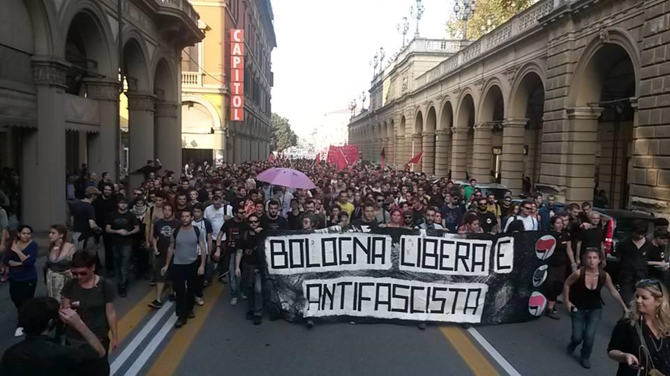 La manifestazione contro Forza Nuova del 18 ottobre 2014