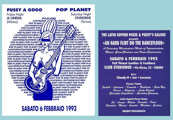 POP PLANET Torino meets PUSSY GALORE'S Milano