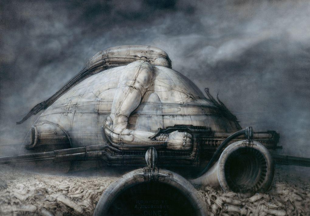"""Un disegno di Giger, ovvero il papà di """"Alien""""."""