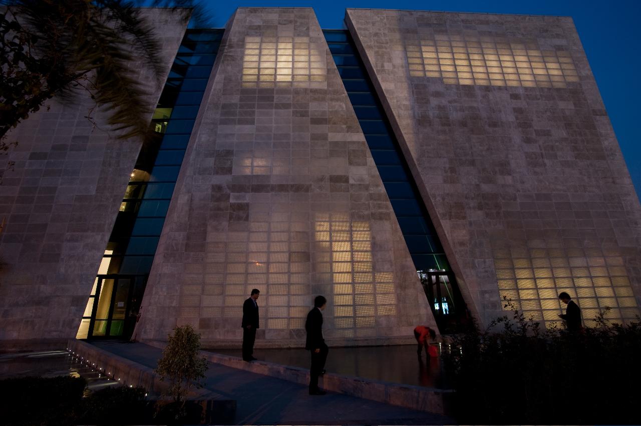 Padiglione Italia, EXPO Shanghai 2010, fatto con cemento trasparente i.light