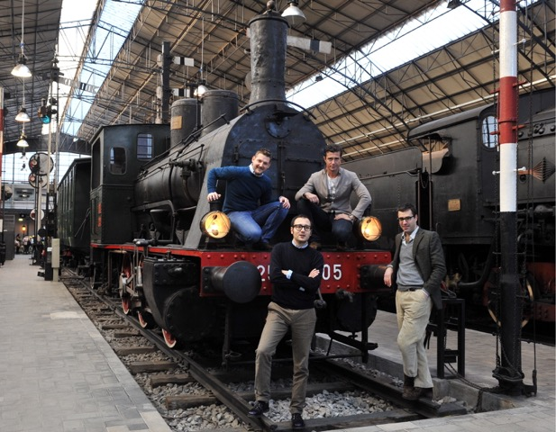 Il team di Musement: Claudio Bellinzona, Paolo Giulini, Fabio Zecchini, Alessandro Petazzi