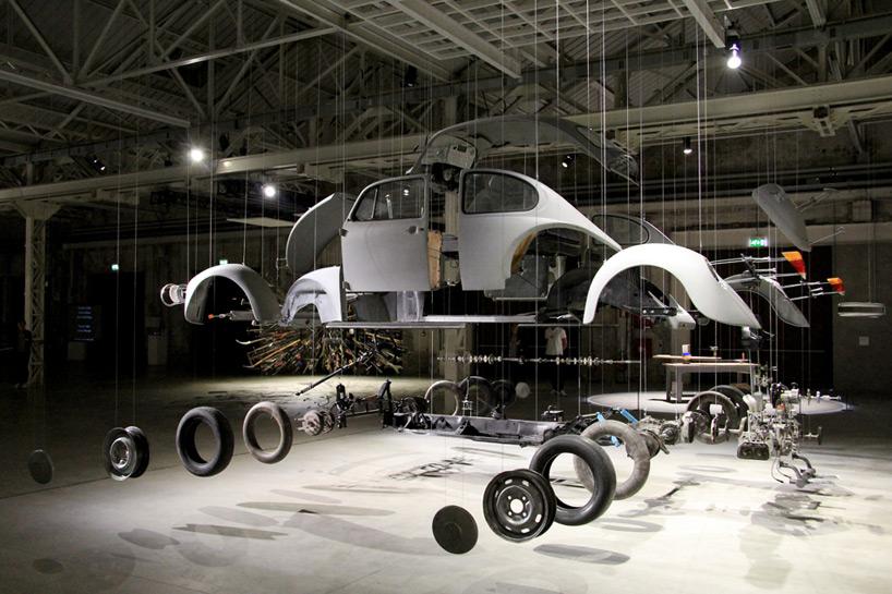 Un'immagine della mostra di Ortega all'HangarBicocca