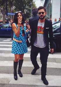 Tiberio e Marcellina per  Milano in piena fashion week