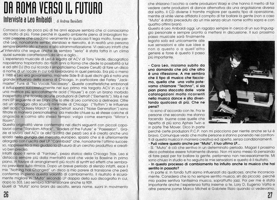 Leo Anibaldi intervistato da Andrea Benedetti.