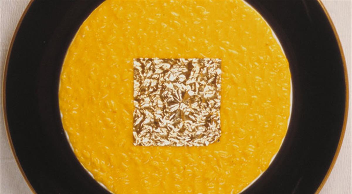 Il risotto oro e zafferano di Gualtiero Marchesi