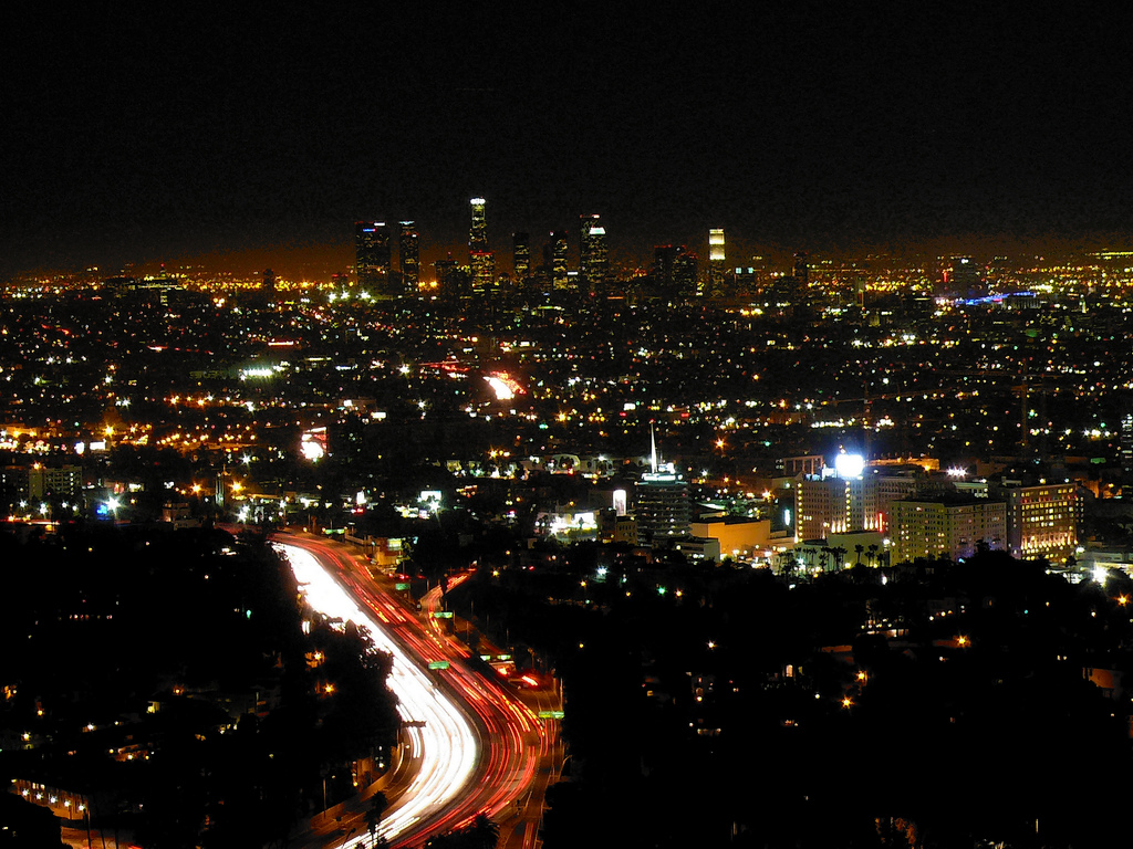 Los Angeles da Mulholland Drive