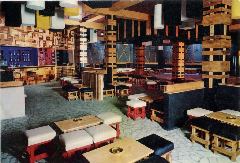 Interno Tana Club Discoteque 1969, il primo locale dove Daniele Baldelli metteva i dischi.