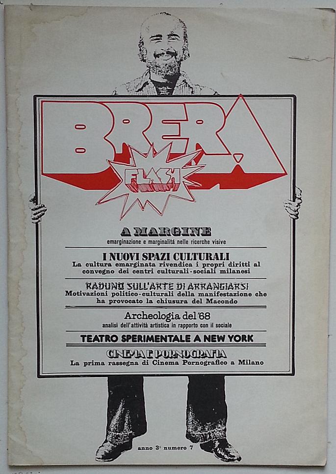 Un numero della rivista Brera Flash curata da Ugo La Pietra