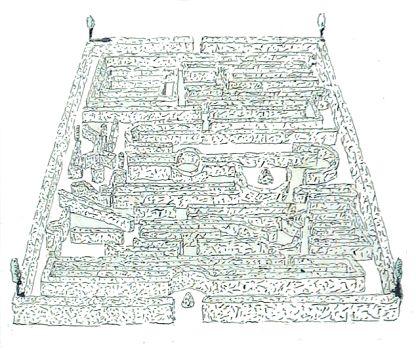 Ugo La Pietra, Labirinto verde - china su carta, 1981
