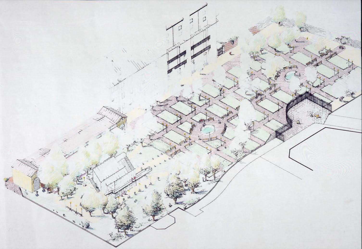 Progetto dell'Orto Botanico di Brera, Milano - Ugo La Pietra & Vico Magistretti, 1984/1992