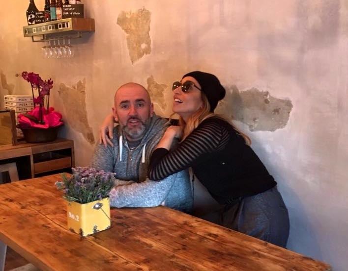Con Carola Pisaturo