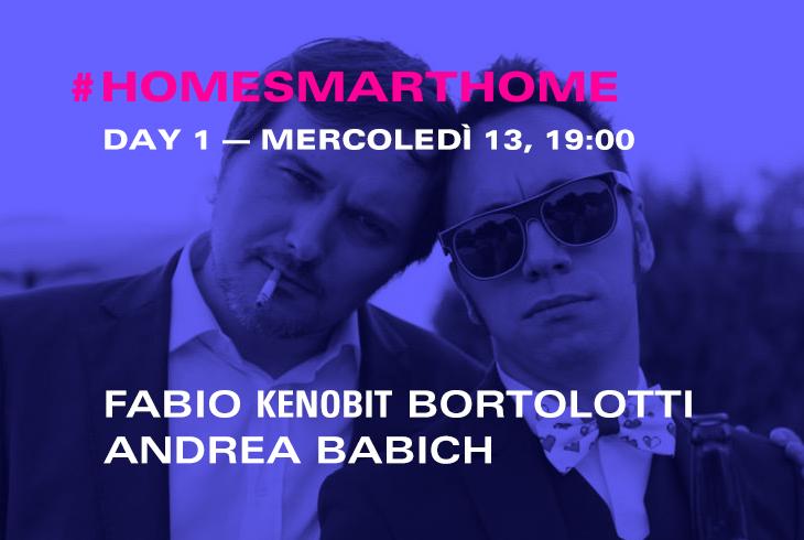Fabio Kenobit Bortolotti e Andrea Babich di Retrogaming a Samsung Home Smart Home per il Fuorisalone 2016