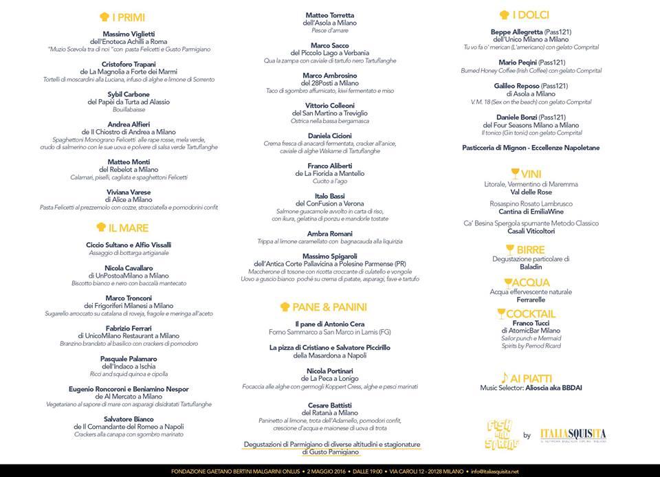 Il menu... Non si legge benissimo, ma effettivamente è un po' scarno, non vi pare?
