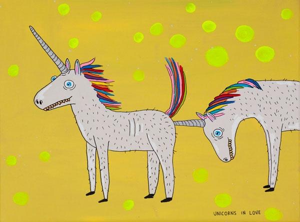 Unicorns in Love, 40x30, 2013