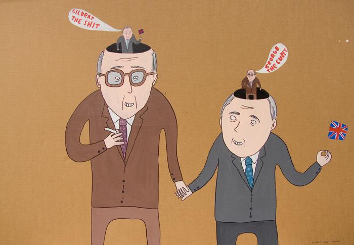 Glilbert & George dalla serie Braindead, 2007