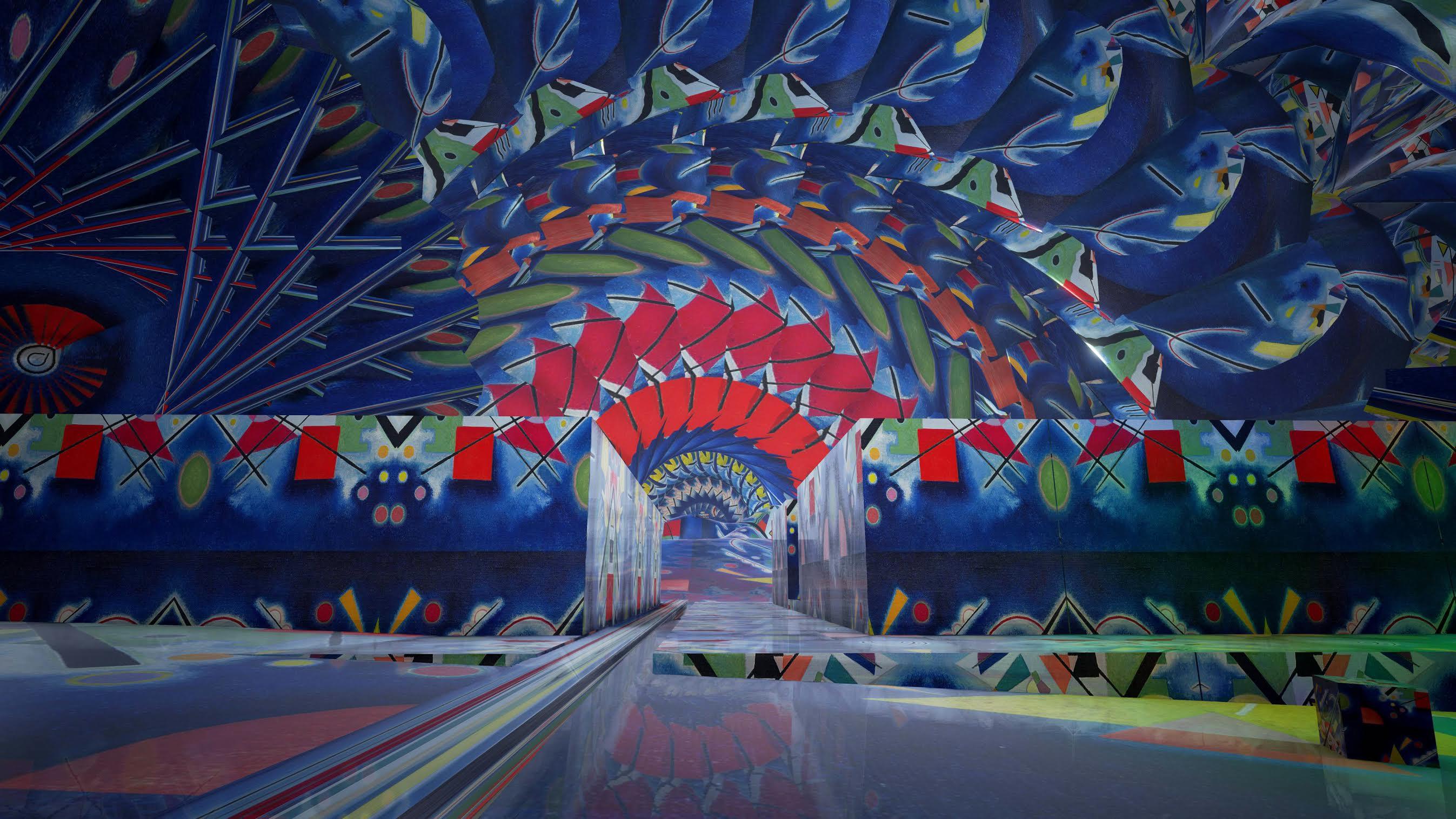 """""""The Medium"""": video art, ispirata all'arte di Kandinsky è la video installazione inedita che gli Streamcolors hanno realizzato per la missione a Toronto."""