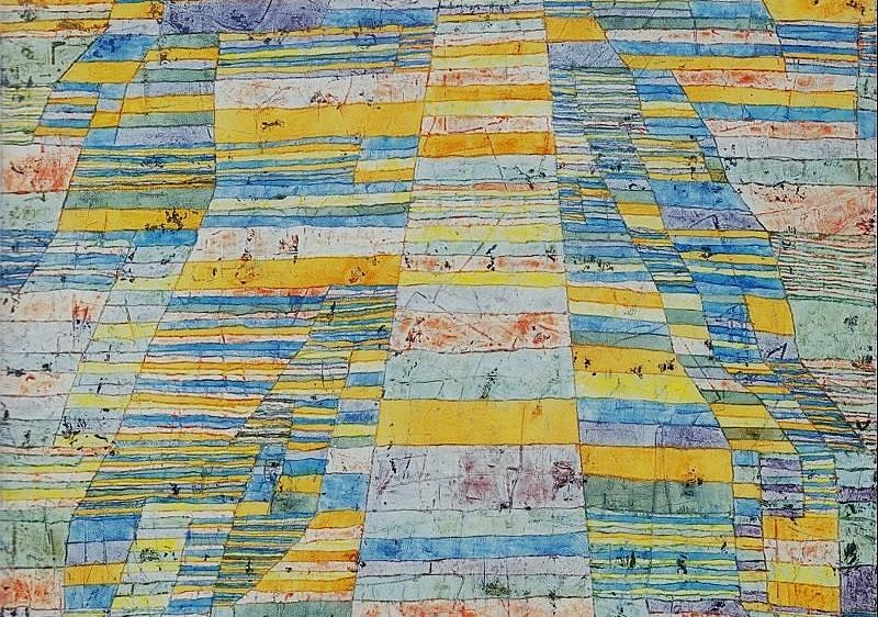 """Strada principale e strade secondarie"" di Paul Klee."