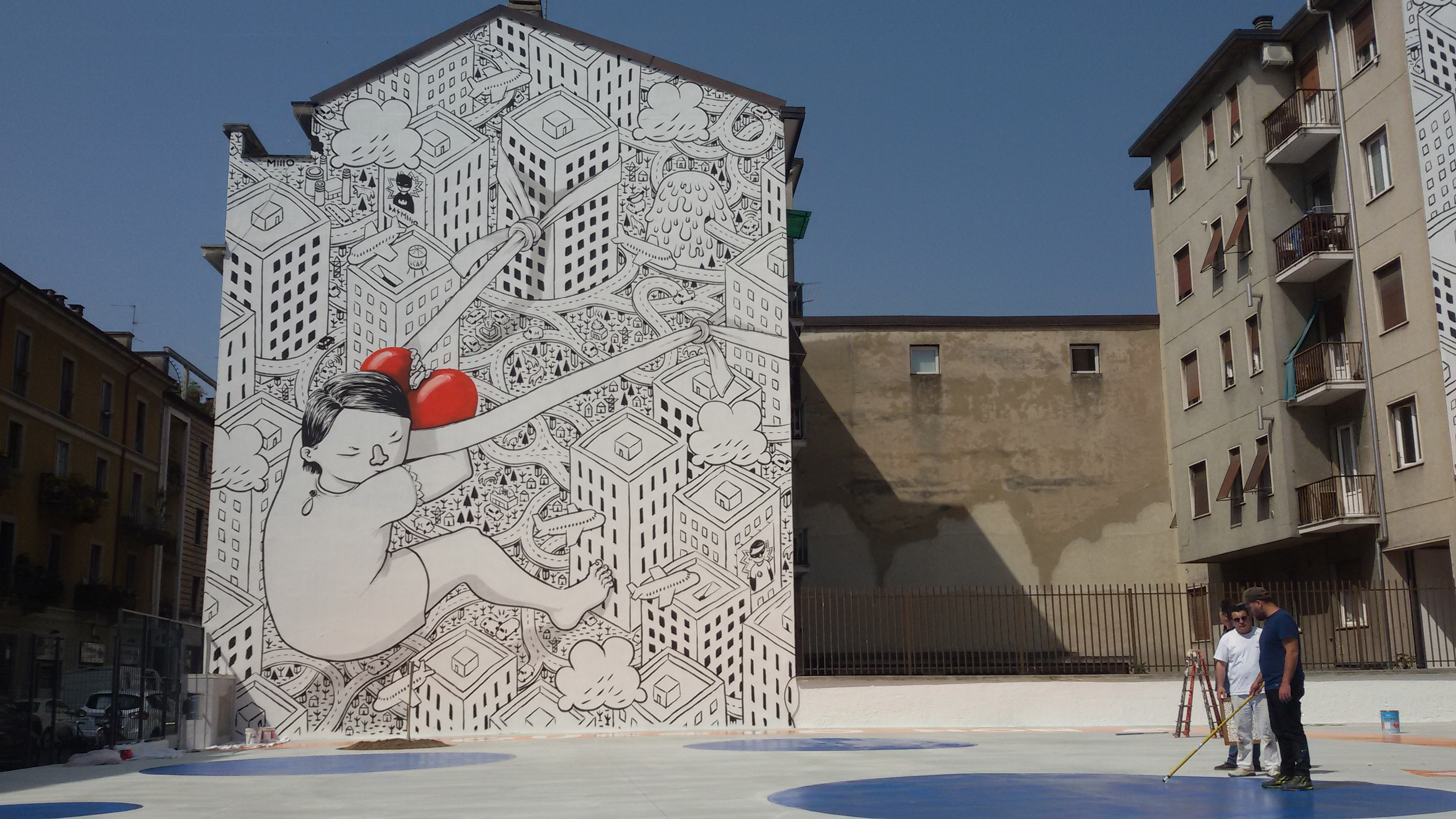 La street art di Millo in via Morosini
