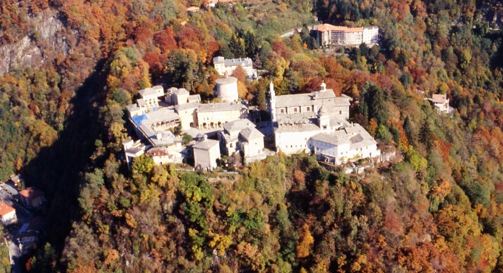 Veduta aerea del Sacro Monte di Varallo