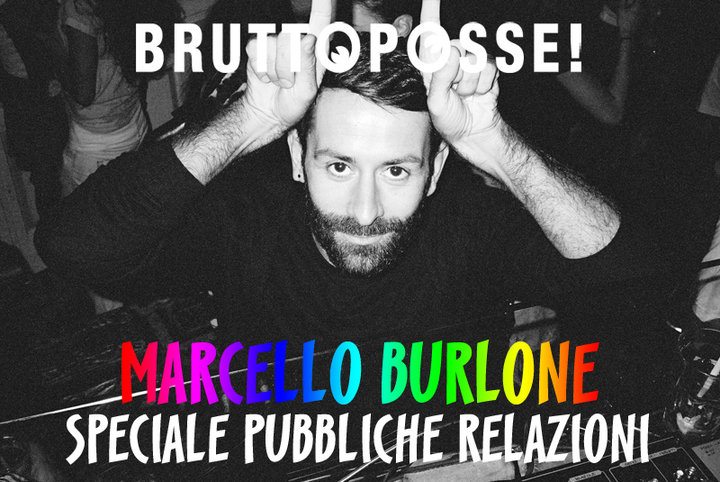 E-flyer per il dj set di Marcelo Burlon a Brutto Posse