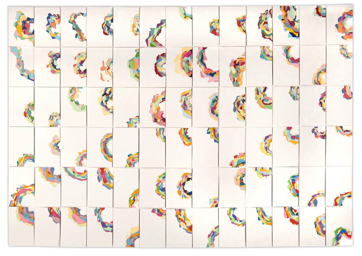 RITAGLI DI TEMPO 2013 carta, 120 x 128 cm, 78 giorni
