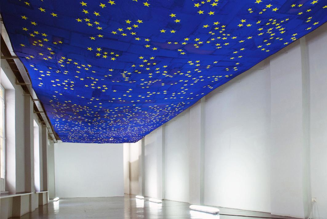 STRAPPO ALLA REGOLA 2013 Tela di bandiere europee, filo di cotone, tre mesi, 18 x 5 metri