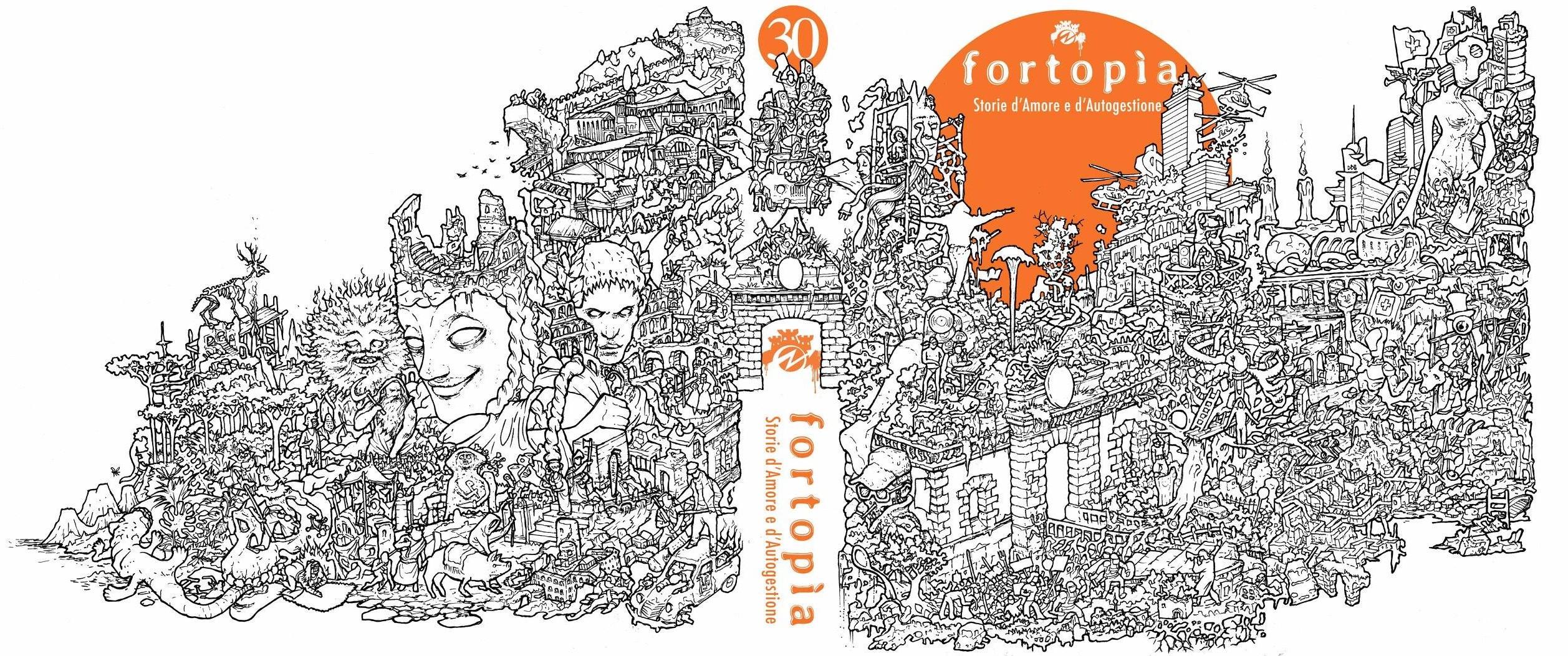 """La copertina di """"Fortopía """" realizzata da Enrico D Elia."""