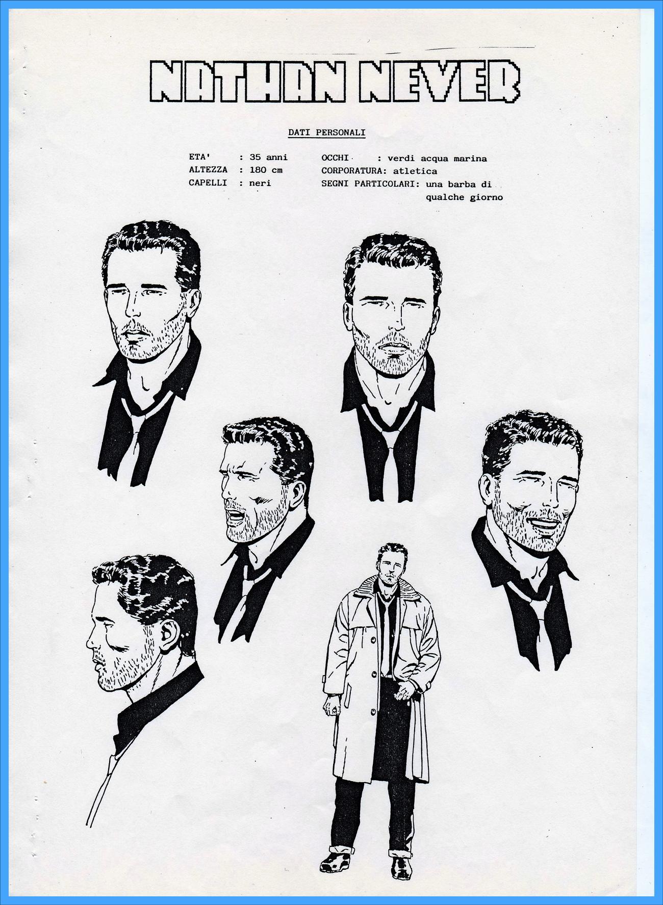 Nathan Never: studio del personaggio