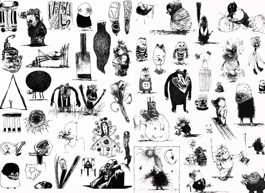 Alcuni disegni di Joakim Pirinen.