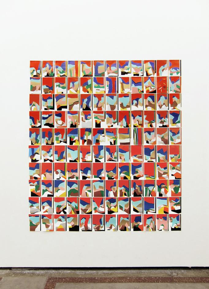 TI LASCIO META' FOGLI DA COLLAGE 2010 - 2012 Fogli da collage, 210 x 235 cm, due anni