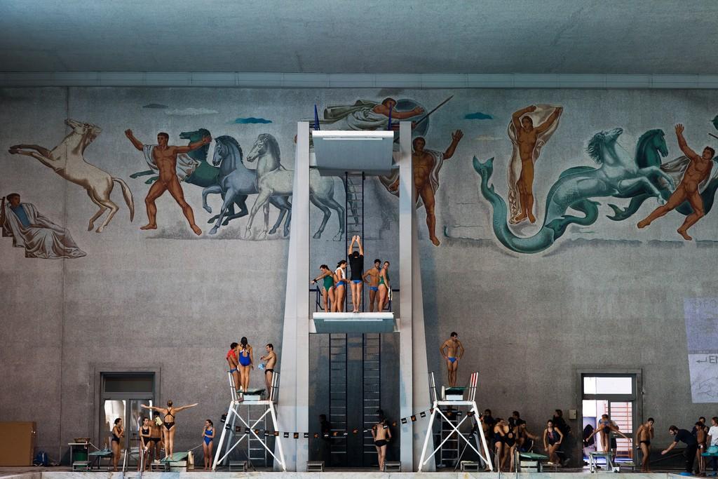 Le piscine del Coni al Foro Italico.