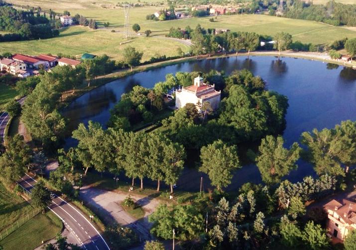 Villa d'Este e la Vasca di Corbelli a Reggio Emilia, location di Camporella