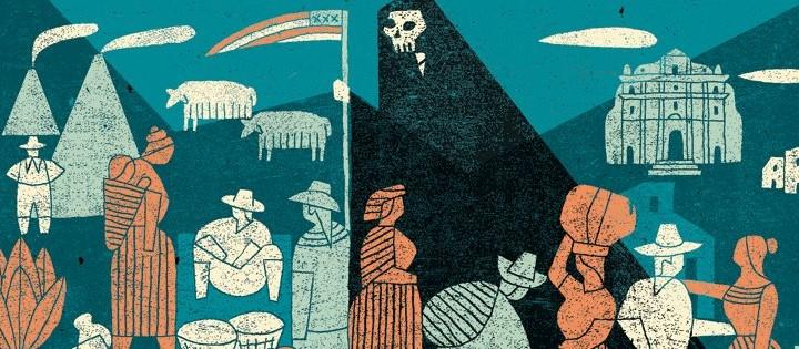 """L'illustrazione di Angelo Monne per l'articolo """"Cavie inconsapevoli"""" di Oliver Laughland. Internazionale del 10/04/2015."""