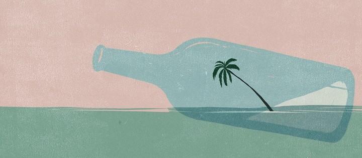 """L'illustrazione di Shout per l'articolo """"La magia della sabbia"""" di Rebecca Willis. Internazionale del 06/09/2013."""