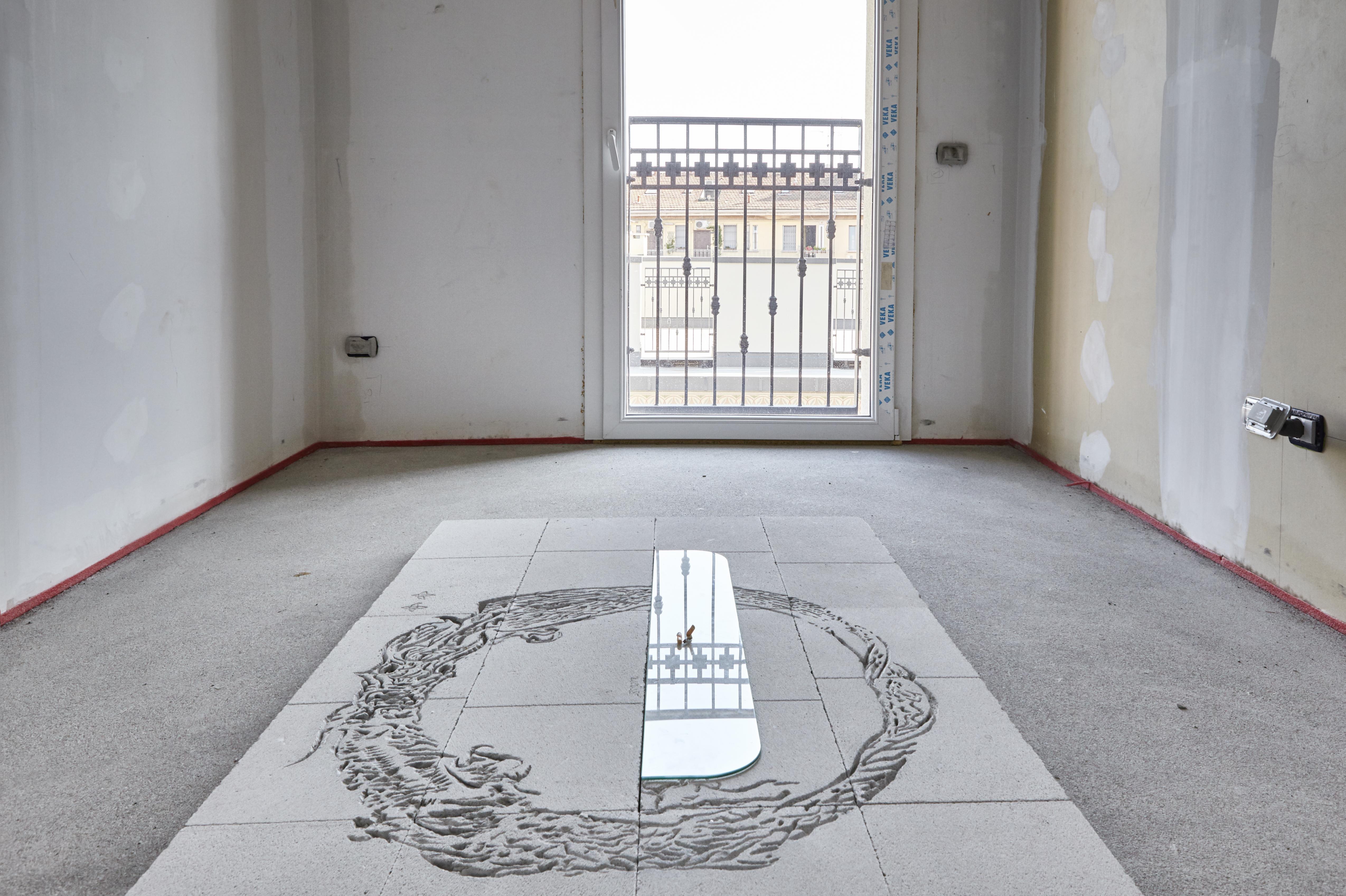 Alessandro di Pietro, Attico, Installation view, FuturDome Milano, agosto 2016, ph. Floriana Giacinti