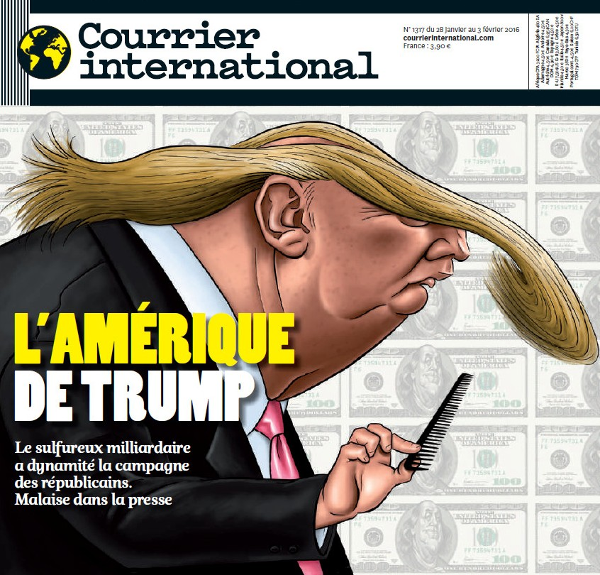 Un numero del Courrier International del 2016.