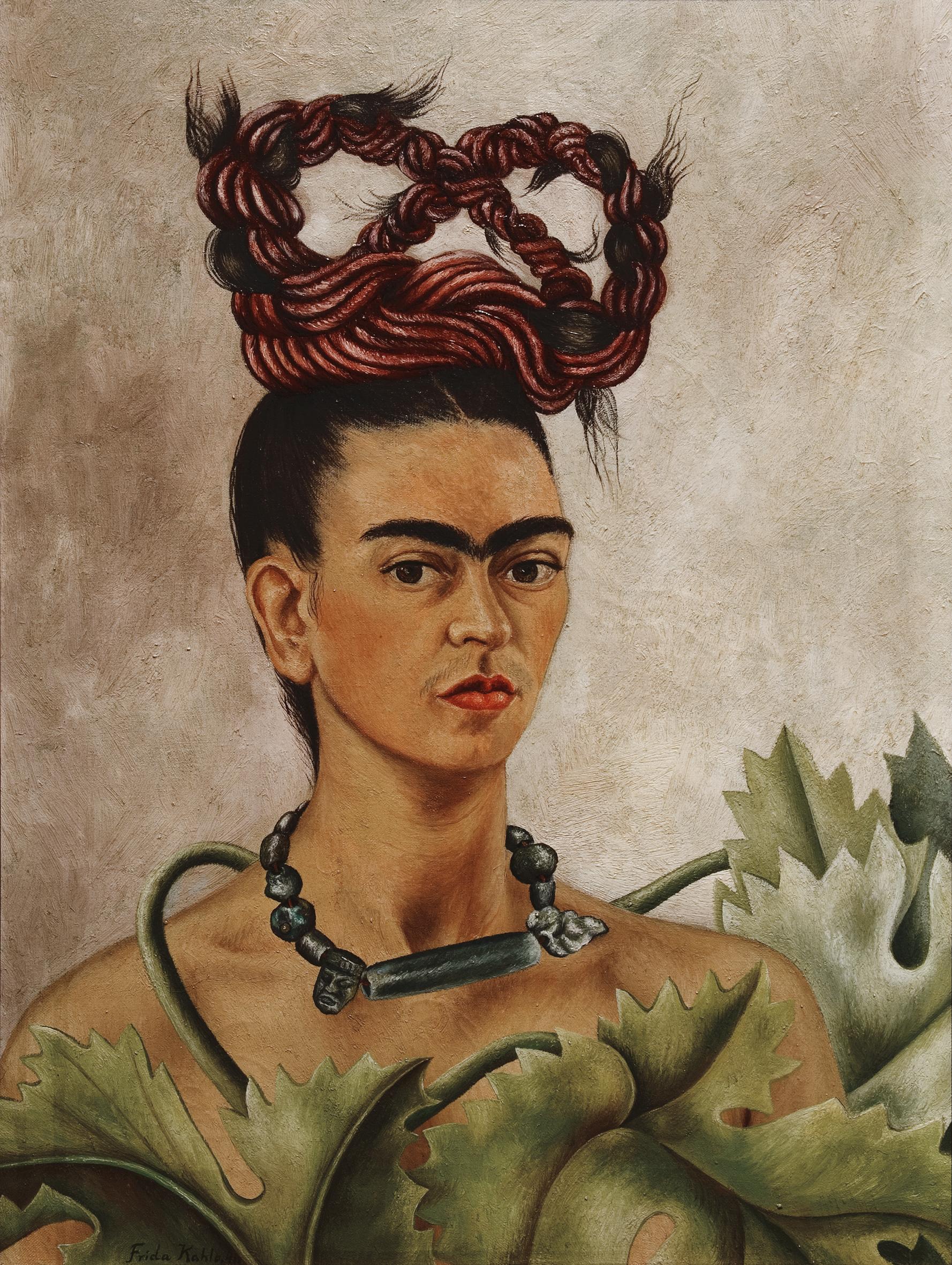 Autoritratto con treccia. Di Frida Kahlo