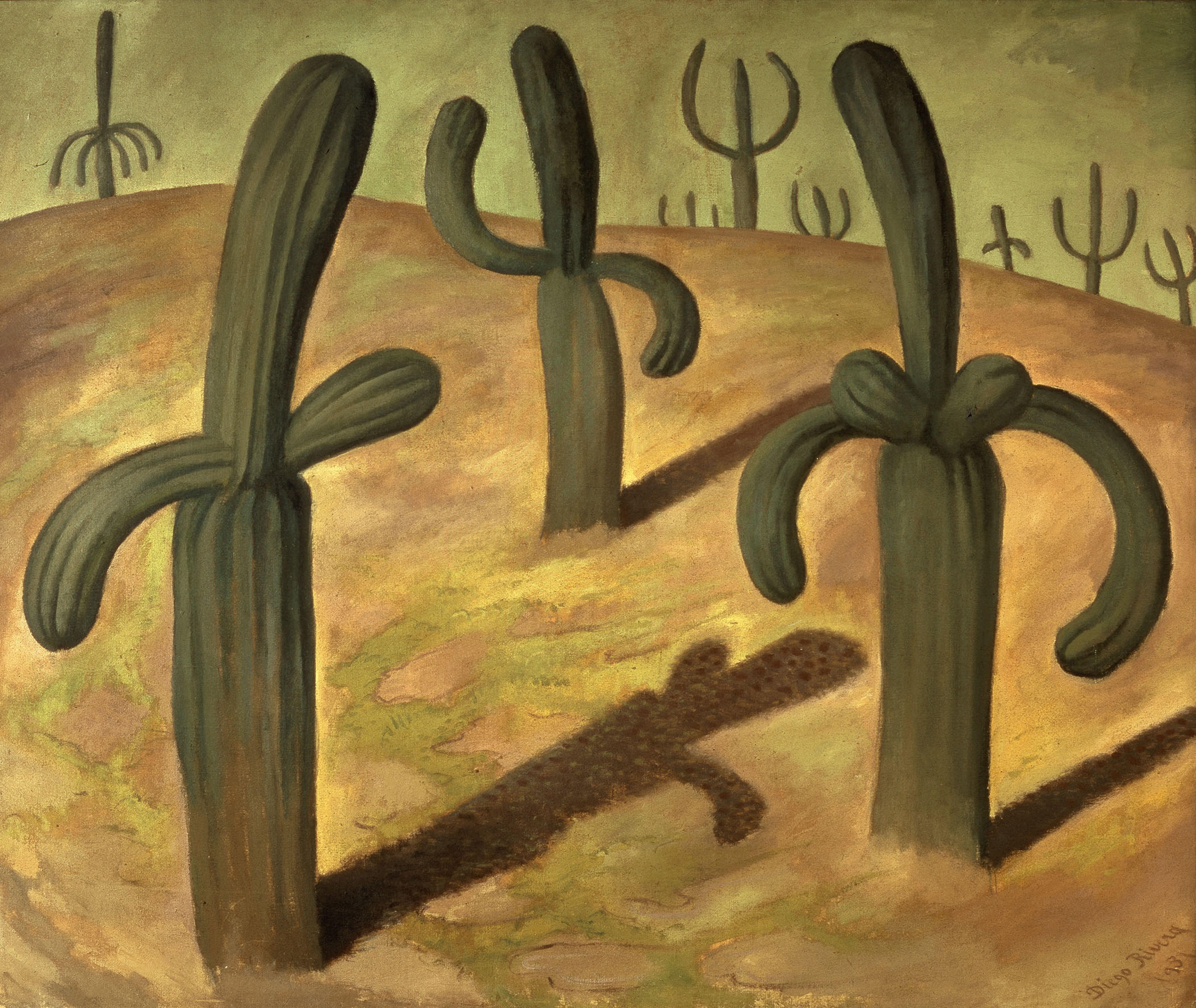 Paesaggio con cactus. Di Diego Rivera