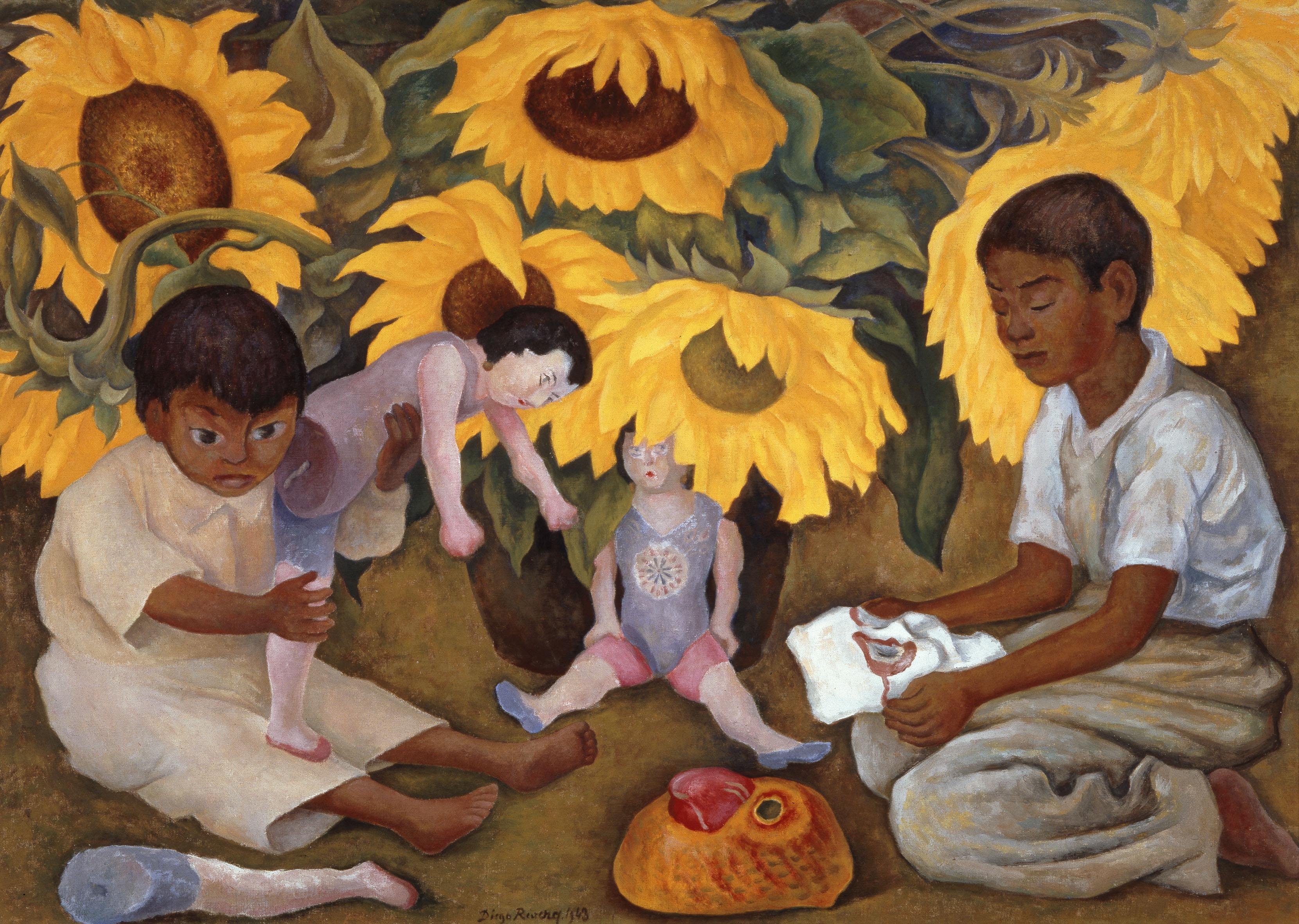 Sunflowers. Di Diego Rivera